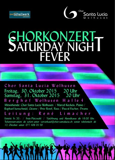 Flyer Saturday Night Fever